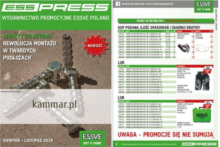 PROMOCJE ESSVE- oferta ważna do 30.11.2019